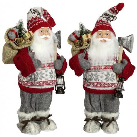 Père noël géant Cyprien45 Figurine pour décoration de noel et vitrine