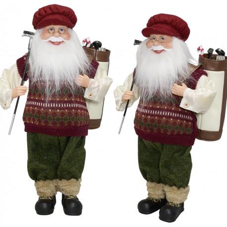 Père noël géant Edouard45 Figurine pour décoration de noel et vitrine