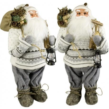 Père noël géant Nicolas60 Figurine pour décoration de noel et vitrine