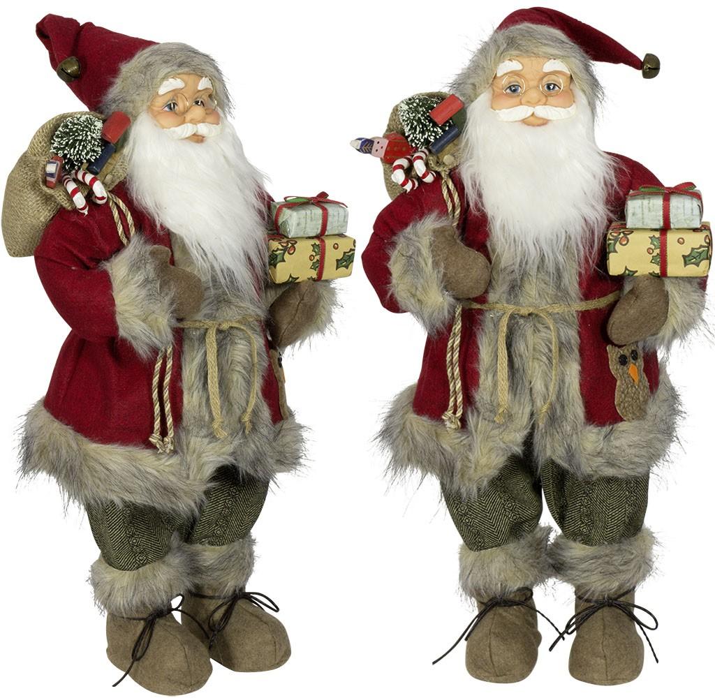 pere noel geant Figurines Père noël géant 60cm Nathanaël pour décorations de noel pere noel geant