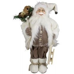 Père noël géant 60cm Arthur Figurine pour décoration de noel et vitrine