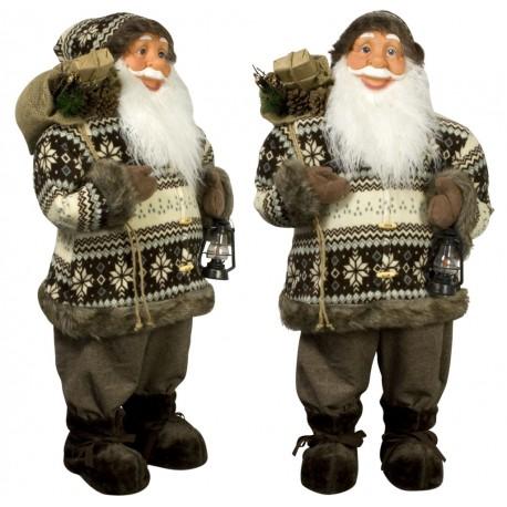 Père noël géant Clovis80 Figurine pour décoration de noel et vitrine