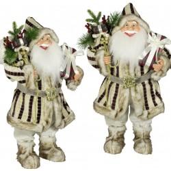 Père noël géant Gaspard80 Figurine pour décoration de noel et vitrine