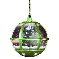 Lanterne Led de Noël avec flocons de neige tombante 35cm
