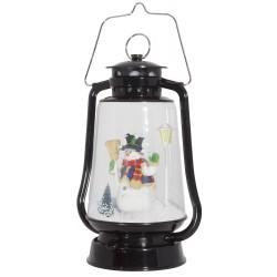 Lanterne Leds avec fontaine à neige 35cm