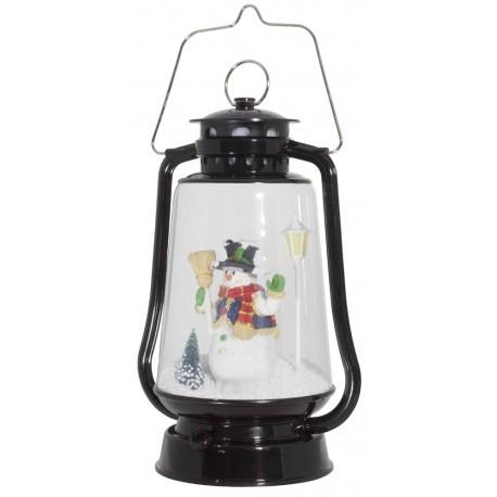 Décoration lumineuse Lanterne de Noël à Led fontaine à neige 37600