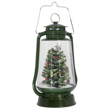 Décoration lumineuse Lanterne de Noël à Led fontaine à neige 37601
