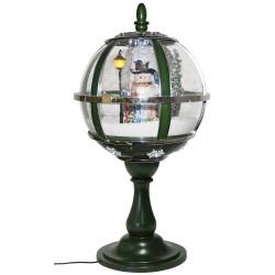 lanterne boule de table à leds avec fontaine à neige Bonhomme de Neige 60cm