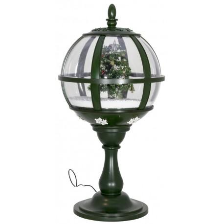 lanterne boule de table à leds avec fontaine à neige Père Noël 60cm