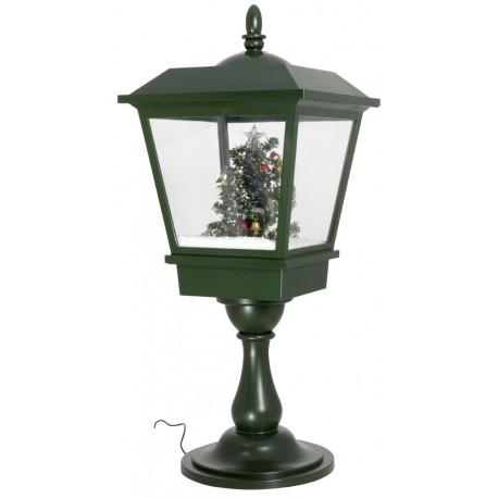lanterne Led de table rétro fontaine à neige Sapin de Noël 65cm