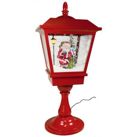 lanterne Led de table rétro fontaine à neige Père Noël 65cm