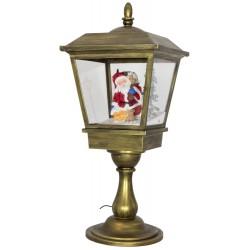 Lanterne led avec fontaine à neige soufflante 65cm