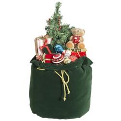 Sac décorations de Noël lumineux et musical 50cm