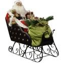 Automate Père Noël Géant dans son traineau, chantant 130cm