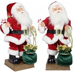 Automate Père Noël/Ours géant chantant et dansant 90 cm