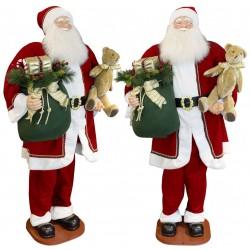Automate Géant du Père Noël chantant et dansant 180cm