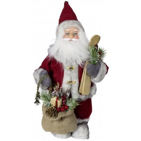 Père noël géant Balthazar Figurine pour décoration de noel et vitrine
