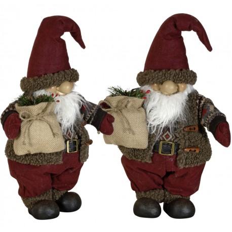 Gnome de noël géant 35cm Andil pour décorations de noel et décoration pour vitrine