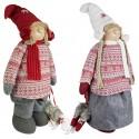 Couple de Gnomes de noël géant extensible Isand 100cm