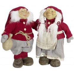 Couple de Gnome de noël géant 27cm Galas pour décoration de noël et décoration de vitrine