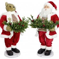 Automate Père Noël / Ours géant chantant et dansant 90 cm