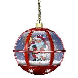 Décoration lumineuse à Leds de Noel avec fontaine à neige 37609