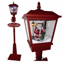 Lampadaire Led de Noël lanterne rétro Père noël 180cm