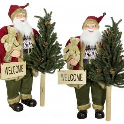 Père noël géant 60 cm avec sapin de Noël