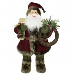 Père noël géant 60cm Ippolito figurine pour décoration de noel