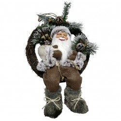 Figurine Père noël géant Flynn sur couronne pour décoration de noel