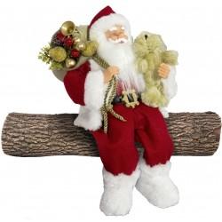 Père noël géant assis 45cm Beny Figurine pour décoration de noel