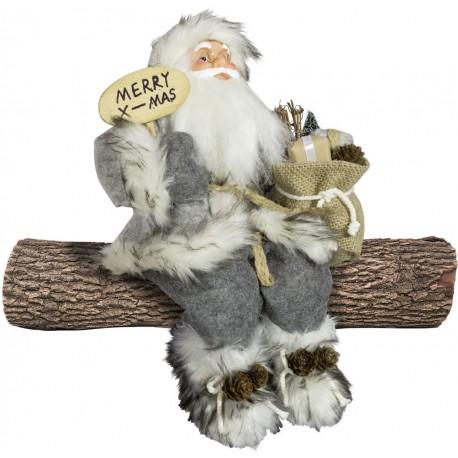 Père noël géant assis Idas Figurine pour décoration de noel et vitrine