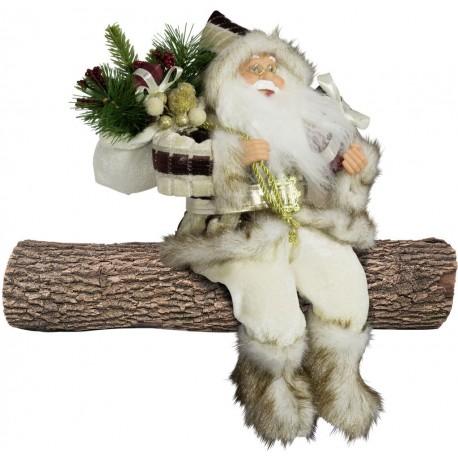 Père noël géant assis Gaspard45 figurine pour décoration de noel