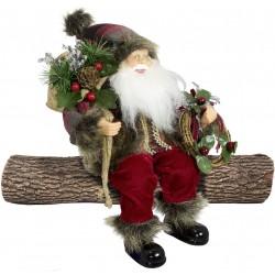 Père noël géant assis Antonin 30cm Figurine pour décoration de noel