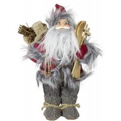 Père noël géant 30cm Alderic Figurine pour décoration de noel et vitrine