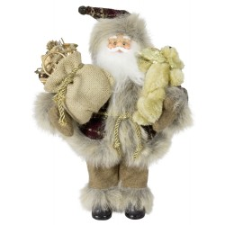 Figurine Père noël géant 30cm Cyrano pour décoration de noel et vitrine
