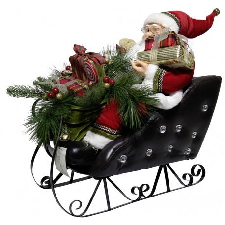 Automate géant du père Noël chantant et dansant 150cm