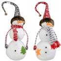 Couple Bonhomme de neige géant 32cm