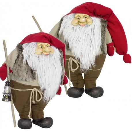 Gnome de noël géant 75cm Rion pour décorations de noël et décoration pour vitrine