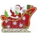 Calendrier de l'avent traîneau de Noël