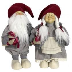 Couple de Gnome géant 35cm Golum Figurines pour décoration de noel