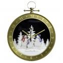 Horloge de Noël fontaine à neige soufflante 65cm