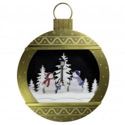 Lanterne boule de Noël flocons de neige tombante 65cm