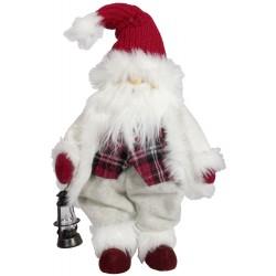 Gnome de noël géant 36cm Lomio pour décorations de noël et décoration pour vitrine