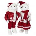 Couple d'ours de Noël géant