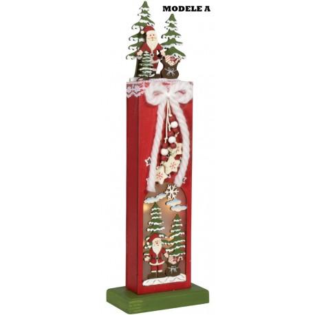 3 décorations de Noël 32cm avec Leds