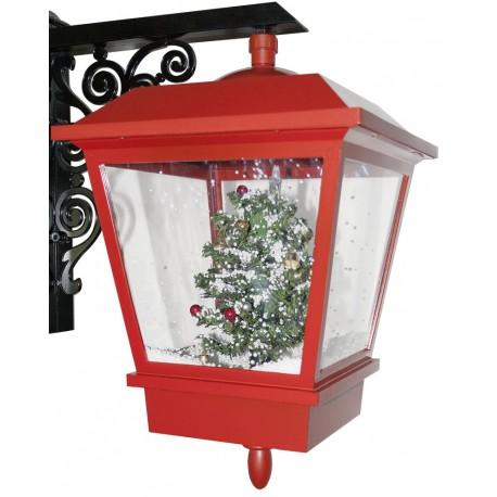 Décoration lumineuse Noël en Lanterne applique LED Neige tombante