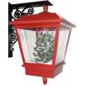 Lanterne de Noël à Leds avec fontaine à neige soufflante 45cm