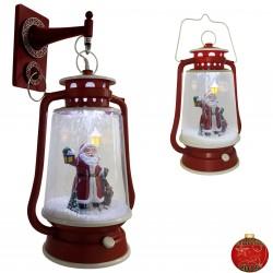 Décoration lumineuse Lanterne de Noël à Led fontaine à neige