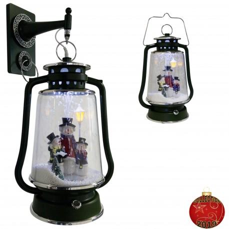 Décoration lumineuse Lanterne de Noël à Led fontaine à neige 36401